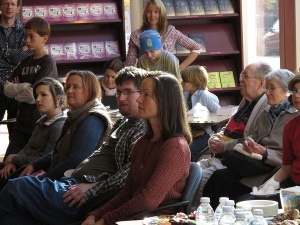 Me In the audience at my own book launch - phobic much?