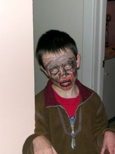 This is not the sort of zombie in my short story, but it's the only zombie I have a photo of. Yet.