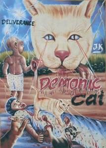 cat evil poster
