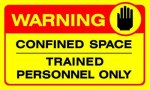 confined sign