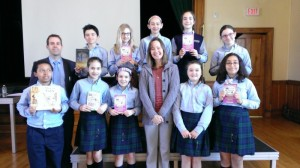 I had great fun with the students of Sacred Heart School in Halifax who were reading 28 Tricks in class.