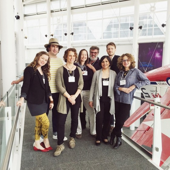 The MASC 2015 authors and illustrators: Kate Inglis, Matt James, Genevieve Despres, Catherine Austen, Tim Wynne-Jones, Rina Singh, Sydney Smith, and Monique Polak