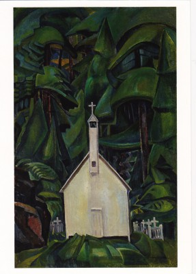 Emily Carr's 1929 Indian Church (painted when she was 57)