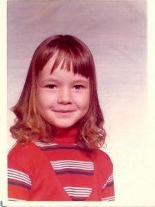 Little girl in the 70s