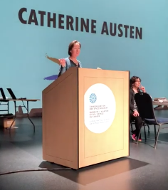 Catherine Austen speaking at MASC Festival 2019