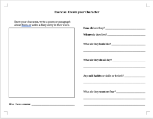 pdf image of build your character exercise