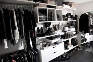 a clothes closet